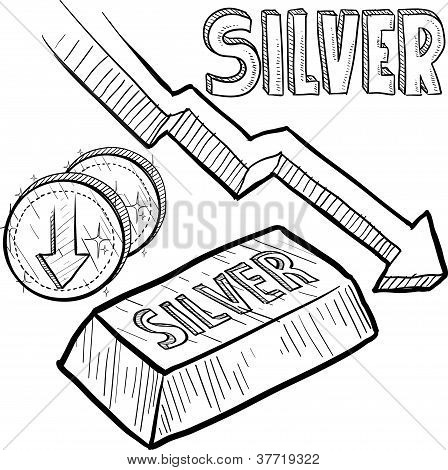 Silver value decreasing