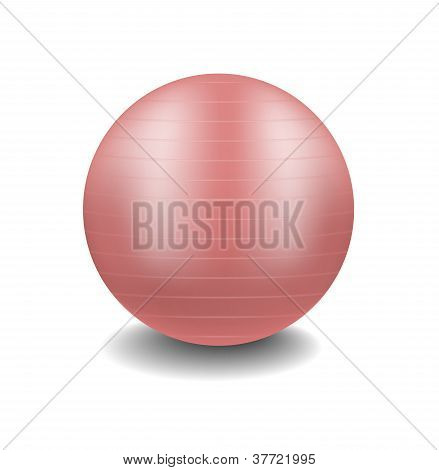 Pink gym ball