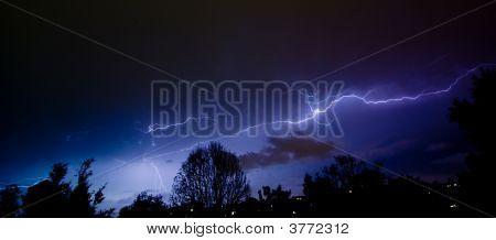 Sky Show Over The Suburbs