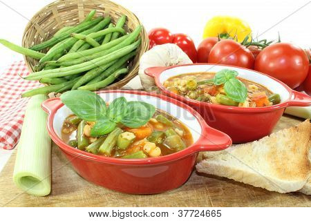 Minestrone With Tomatoes