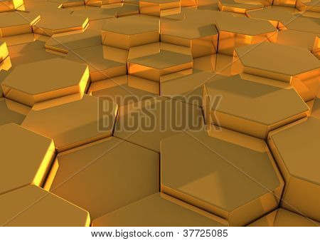 Abstract background image of gold tiles