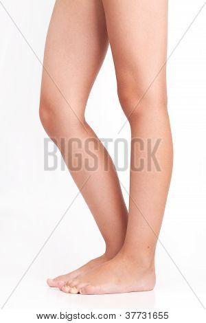 Shapely Female Legs Barefoot