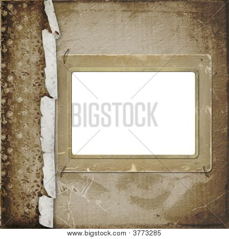Old Photoframe On The  Abstract Background