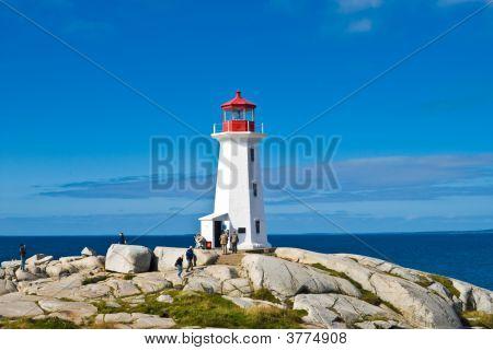 Heritage Lighthouse On A Beach.