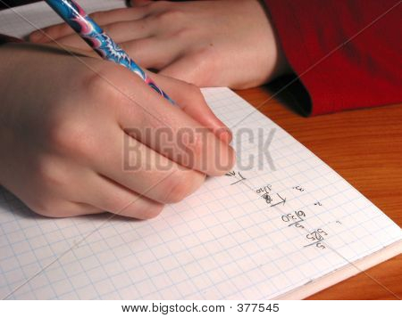 Hands Student Writing