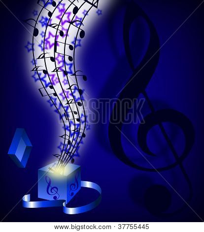 Abstract Music Background With Musical Notes, Eps10