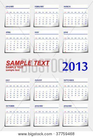 Stickers Calendar.