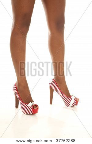 Red White Shoe