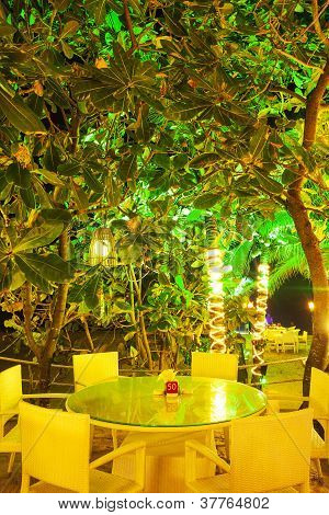 Inside The Outdoor Restaurant
