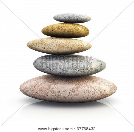 Pile of pebbles for spa therapy