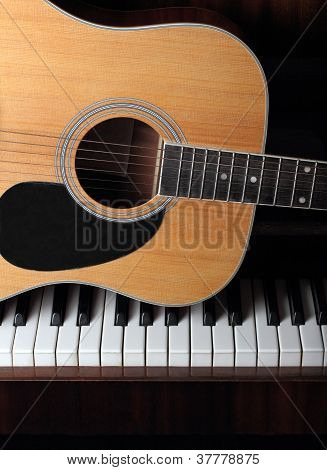 Guitar Part On Piano Keys