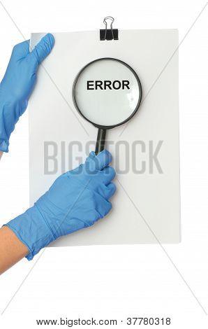 find new error