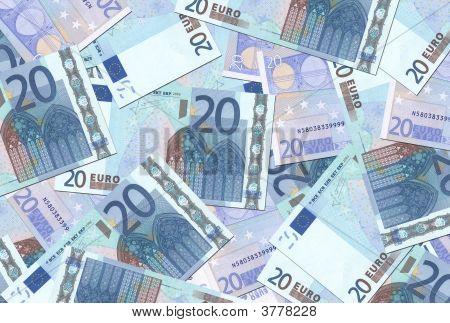 20 Euro Notes Texture