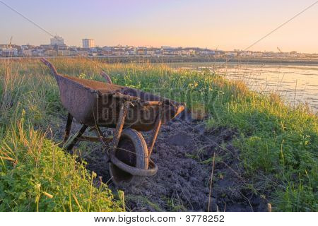 A Rusty Wheelbarrow