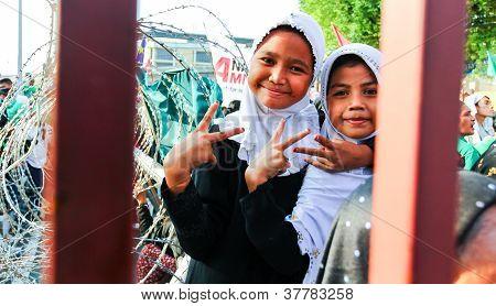 Muslim Peace talk rally