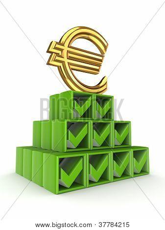 finanzielle Pyramide-Konzept.