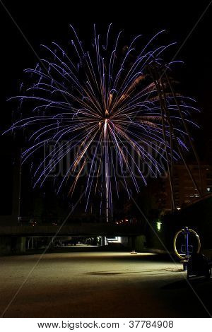 Fireworks on Rambla
