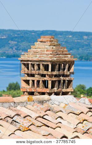 View of Bolsena. Lazio. Italy.