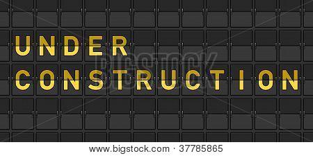 Under Construction Flip Board