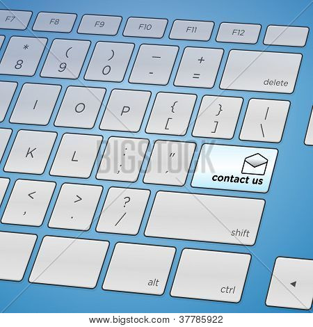 Contact Us Keyboard