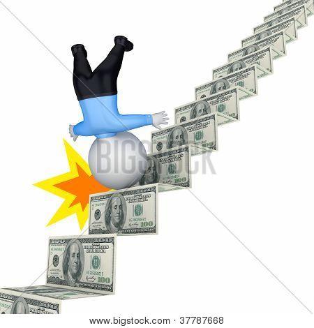 Financial crisis concept.