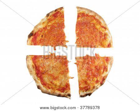 Pizza Margherita on white