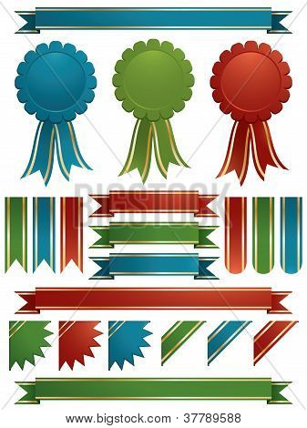 Red Green And Blue Ribbons