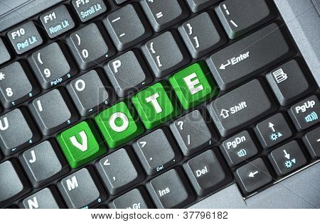 Vote on keyboard