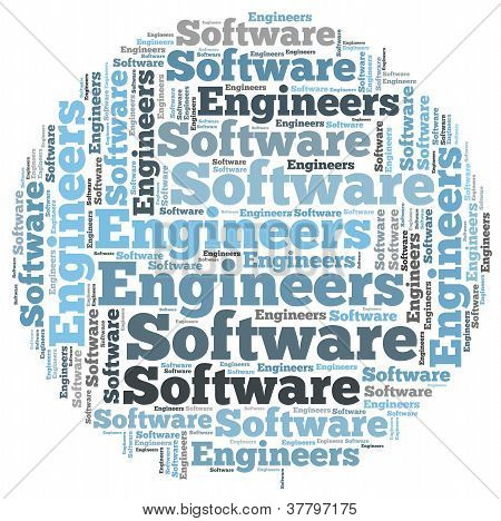 Software engineers info-text graphics and arrangement concept