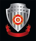 Firefighter Cross Shield
