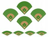 stock photo of hitter  - Illustration Set of Baseball Fields with Perspectibe - JPG