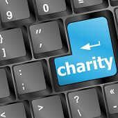 stock photo of soliciting  - Key for charity  - JPG