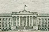 stock photo of treasury  - Banknote Drawing of US Treasury Department Washington DC - JPG