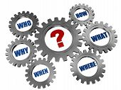 stock photo of query  - red question - JPG