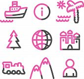 Travel Web Icons poster