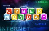 stock photo of monday  - 3d colorful buzzword  - JPG