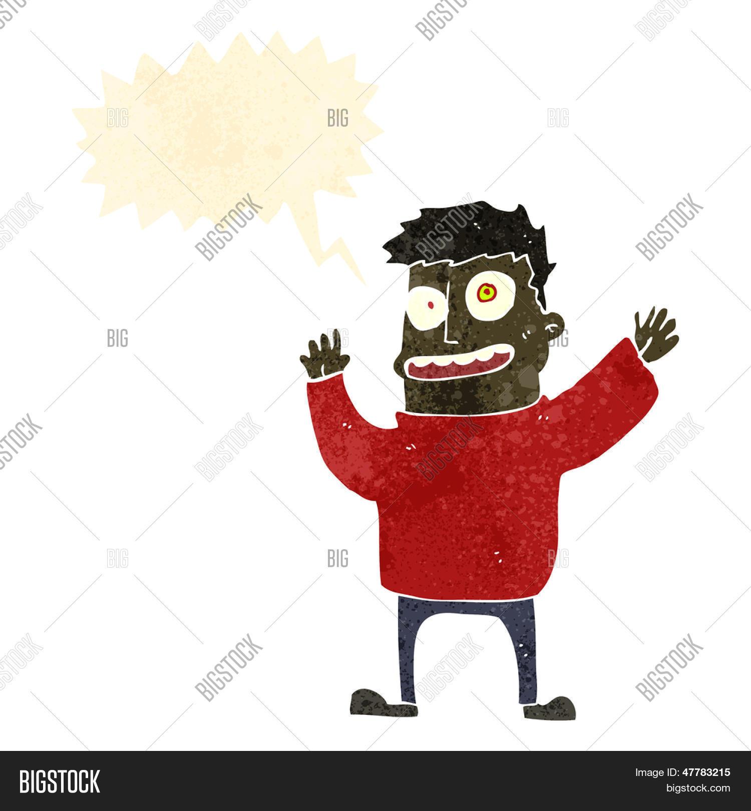 Vectores y fotos en stock de hombre loco dibujos animados retro