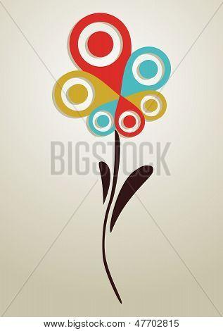 Gps Mark Conceptual Flower