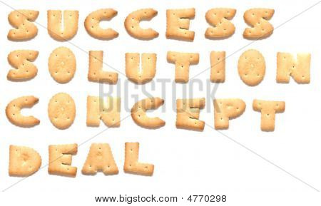 The Words: Success Solution Concept Deal Made Of Cookies