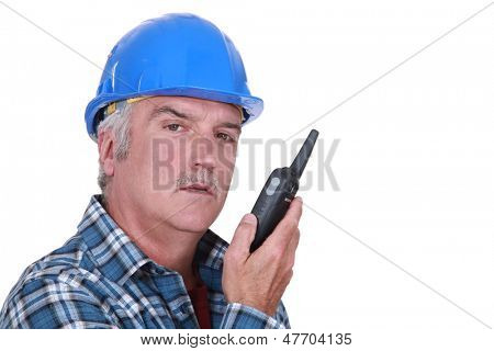 Foreman with radio receiver