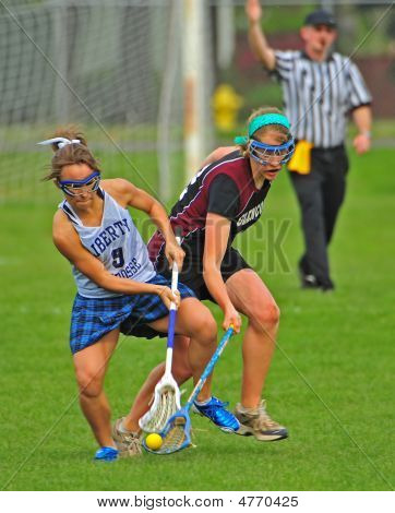 Girls Hs Varsity Lacrosse Ball Turnover