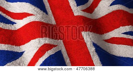 British Flag - Fluffy