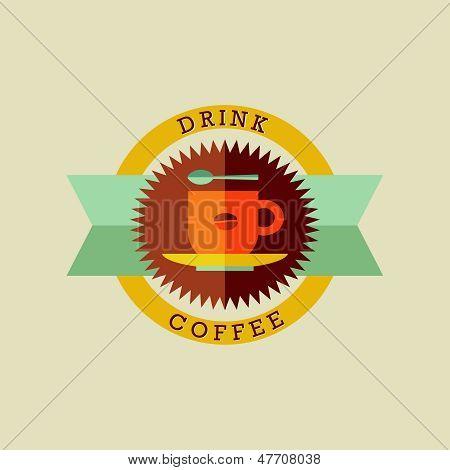 Trinken Kaffee Abzeichen