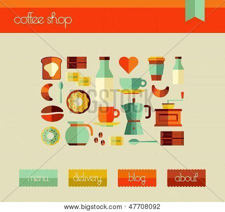 Plantilla de diseño Web Coffee Shop