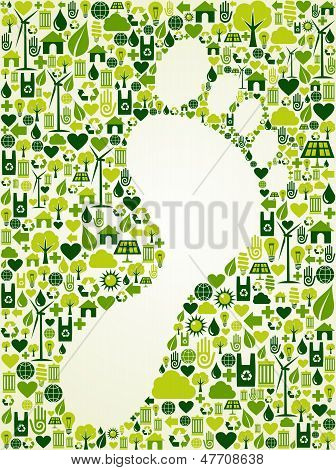 Green Foot Print Design