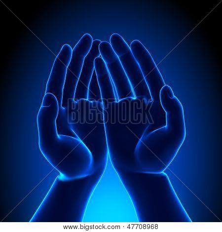 Mãos livres - segurando algo conceito