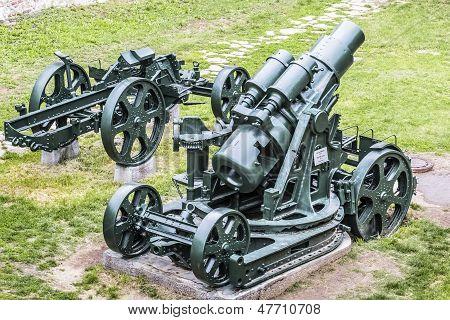 WWI Heavy 305 mm Howitzer Siege Gun