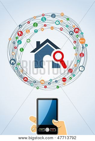 Immobilien-Icon-Set-Mobile