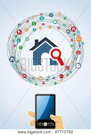 Inmobiliaria Icon Set móvil