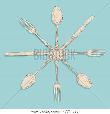 Retro Cutlery Design Set